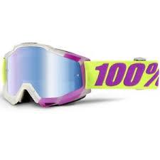 motocross goggles ebay 100 percent new mx accuri tootaloo yellow purple blue tinted