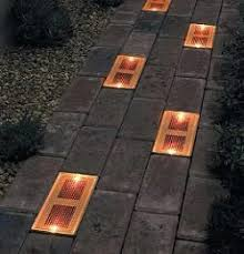 Solar Powered Landscaping Lights Sun Bricks Are Solar Powered Outdoor Light Fixtures That Can Be