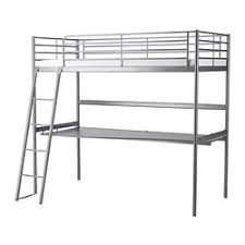 Mid Sleepers  High Sleepers IKEA - Metal bunk bed with desk
