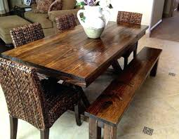 Rustic Farmhouse Dining Tables Farmhouse Dining Set With Bench U2013 Amarillobrewing Co