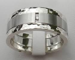 Stainless Steel Wedding Rings by Mens Stainless Steel U0026 Silver Diamond Wedding Ring Love2have In