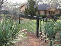 backyard fence decorating ideas with a chain link fence