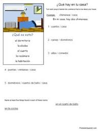 worksheets house spanish la casa pinterest worksheets