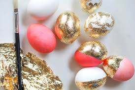 Easter Egg Decorating Gold by Leaf Easter Eggs The Darling Detail