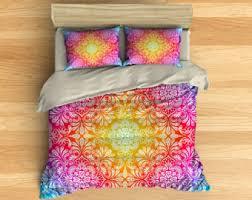 Rainbow Comforter Set Tie Dye Bedding Etsy