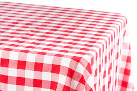 White Table Cloths 60 X 120 Inch Rectangular Polyester Tablecloth Checker Red White