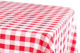 60 x 120 inch rectangular polyester tablecloth checker white