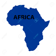 Africa On Map by Blue Map Of Africa On White Background Royalty Free Cliparts
