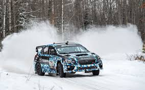 rally subaru snow rally u2013 david higgins wins sno drift in new 2015 wrx sti