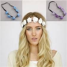 cloth headbands floral headdress ring flower headbands hair bands popular