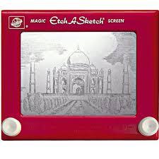 taj mahal etch a sketch art done by jeff gagliardi
