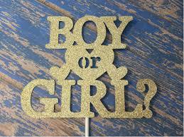 gender reveal cake toppers gender reveal cake topper boy or girl cake topper baby