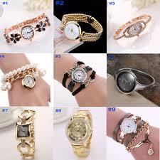 bracelet watches ebay images 2017 fashion women girls analog quartz wristwatch ladies dress jpg