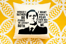 Home Decor Tv Shows by The Office Tv Show Michael Scott Feared Or Loved Pillow Home