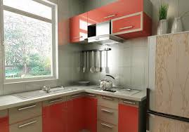 rural style kitchen with red cabinets interior design
