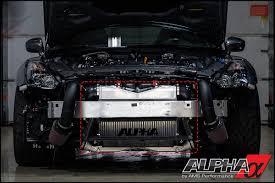 Nissan Gtr Upgrades - alpha r35 gt r race front mount intercooler