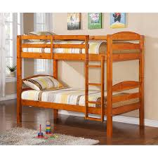 Amazoncom WE Furniture Solid Wood Twin Bunk Bed White Kitchen - Kids wooden bunk beds