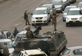 military police jeep zimbabwe army controls paramilitary police depot in harare