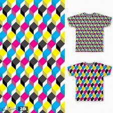 score cmyk 3d pattern by javierverdugo on threadless