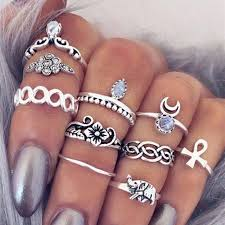 knuckle rings set images 10 pc antique looking tibetan knuckle rings set dax accessories jpg