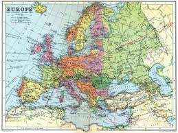 Rail Map Of Europe by Detailed Map Of Europe In 1936 2000 X 1500