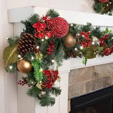 scarlet hydrangea decorated garland christmas world