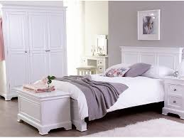 Philippe White  Door Mini Wardrobe Solid Oak Furniture OAKEA - Ready assembled white bedroom furniture