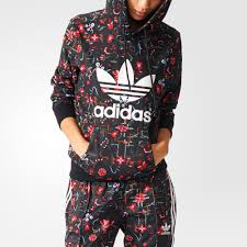 adidas floral hoodie jumper on the hunt