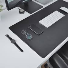 White Desk Pad These Clean U0026 Minimal Desk Mats Will Perfectly Complement Any