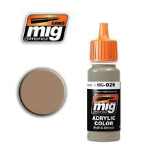 ammo of mig a mig 0026 acrylic color ral 8031 f9 german sand brown