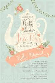 bridal shower tea party invitations baby shower tea party invitations dhavalthakur