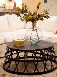 round industrial side table coffee table solid wood round industrial coffee table design