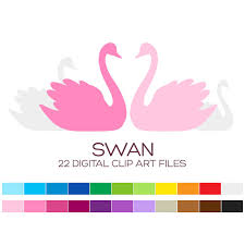 swan wedding swan wedding clipart for personal commercial usage 22