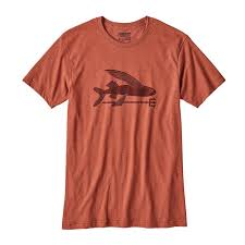 patagonia s flying fish organic cotton poly t shirt