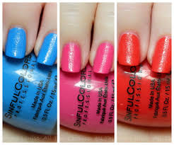 sinful colors full throttle rubberized texture nail polishes