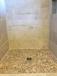 pebble tile shower floor sliced java tan shower floor pebble tile shower floor cleaning