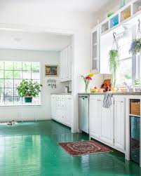 Kitchen Floor Design Love This Kitchen With Its Green Painted Floors So Much