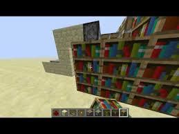 Minecraft Secret Bookshelf Door Minecraft Bookcase Secret Door Making Youtube