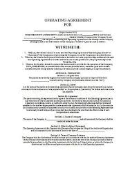 operating agreement template llc operating agreement sample