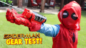spider man spider man homecoming movie gear test real web shooters for kids