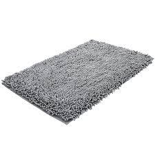super soft bath mat microfiber shag bathroom rugs non slip