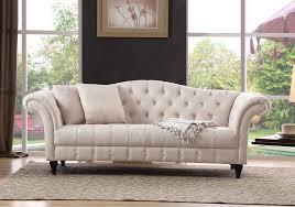 canap chesterfield pas cher canapé chesterfield pas cher lila en tissu beige prix promo meublez