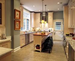 pictures of small kitchen islands white wooden kitchen island with brown wooden counter top and