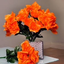 Wholesale Floral Centerpieces by Lovely 168 Silk Open Roses Wedding Bouquets Flowers Centerpieces