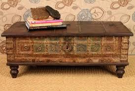 Rustic Coffee Table Trunk Coffee Simple Rustic Coffee Table Leather Ottoman Coffee Table And