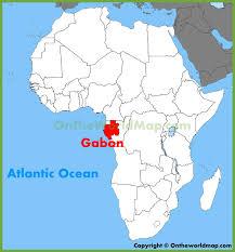 gabon in world map gabon location on the africa map
