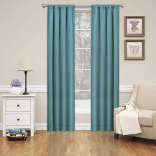 Teal Curtain Eclipse Blackout Window Curtain Panel Pair Walmart