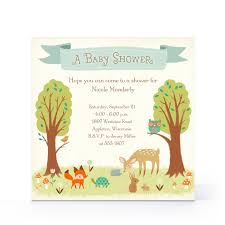 whimsical woodland baby invitation hallmark baby shower