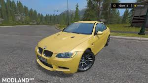 Bmw M3 Yellow 2016 - bmw m3 v 1 0 mod farming simulator 17