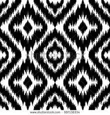 ethnic seamless black white pattern boho stock vector 507138334